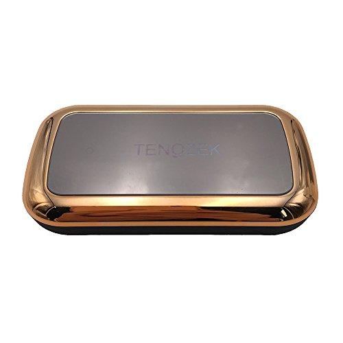 TENOZEK Portable 5200mAh Mirror Chrome USB External Battery fast Charger Mobile Power Bank (Golden)
