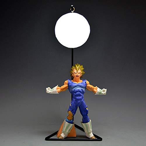QINGQING Dragon Ball Z LED-Nachtlicht Vegeta Action-Figur DBZ for Kinder Geschenk-Dekor-Lampe