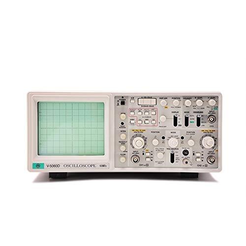 Range Exacto V-5060D Osciloscopio de exploración de retardo de osciloscopio analógico de Tres vías Duradero (Size : 220V)