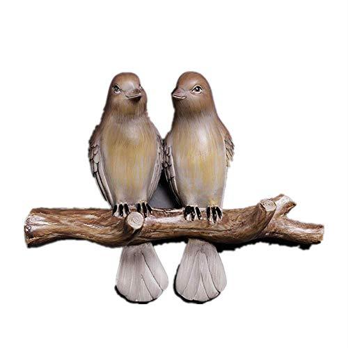 ALG Zwei süße Vögel, Kleiderhaken, umweltfreundliche Harzmaterialien, langlebig, korrosionsbeständig, gehen in die Natur, Formen die frische Textur neu