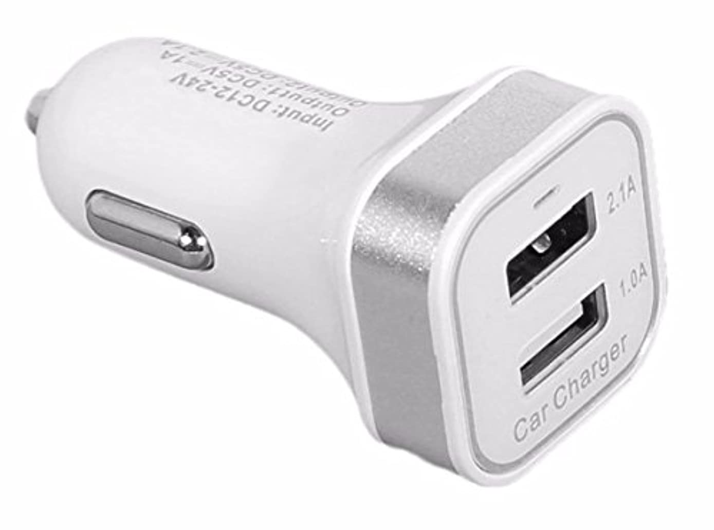 ReadyPlug USB Car Charger for: Hubsan X4 H107C+ Camera Drone (White - Glows Blue)