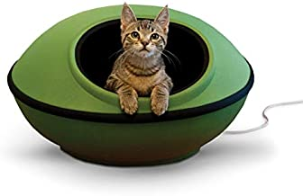 K&H PET PRODUCTS Thermo-Mod Dream Pod Heated Pet Bed 22 Inches Green/Black