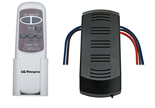 Orbegozo RCM 8250 - Kit mando a distancia para ventilador de techo, memoria interna, alcance 12 metros, control de luz y velocidad de ventilación