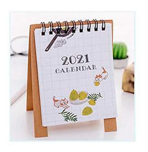 Linda planta de flamencos Mini calendario de papel de escritorio programador diario planificador de mesa organizador de agenda anual para hacer lista Catandpear