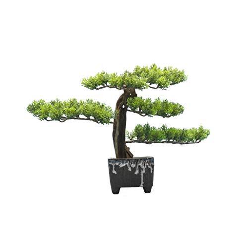 zxb-shop ARBO Artificial Simulación China Bienvenido Pino Simulación Árbol Bonsai Jardín al Aire Libre Inicio Oficina Decoración Falta Planta Potting Simulación Árbol 12.59 Pulgadas Planta Artificial