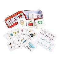 LuDa 子供の早期学習フラッシュカードアルファベットマッチング写真幼児幼児