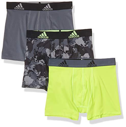 adidas Youth Kinder Jungen Boxershorts (3er-Pack) Schwarz Camo/Grün/Onix, Größe M