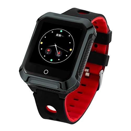 JingJingQi Fitness tracker GPS A20S Smart Watch BDS WIFI Locating Heart Rate Monitor Stappenteller Smartwatch Fitness Tracker voor Android IOS, Twilight, Engels versie