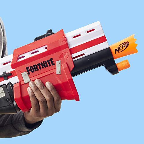 Nerf Fortnite TS Blaster -- Pump Action Dart Blaster, 8 Official Mega Fortnite Darts, Dart Storage Stock -- For Youth, Teens, Adults