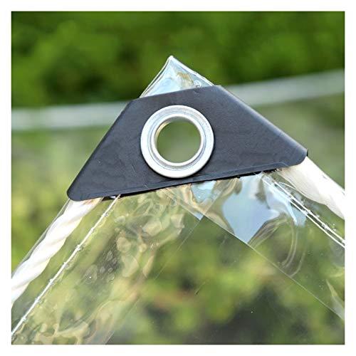ALGFree Lona Impermeable Exterior Transparente Impermeable Resistencia Al Desgarro Toldo Usado para Al Aire Libre Patio Jardín Funda Muebles, Distancia del Agujero 50cm, con Ojal De Metal