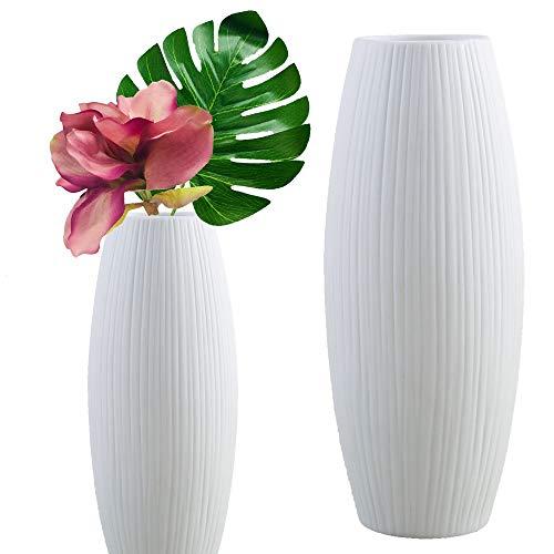 Live with love 2 vasi in ceramica bianca perfetti per fiori e piante decorano Matrimonio Feste Casa -Bianco