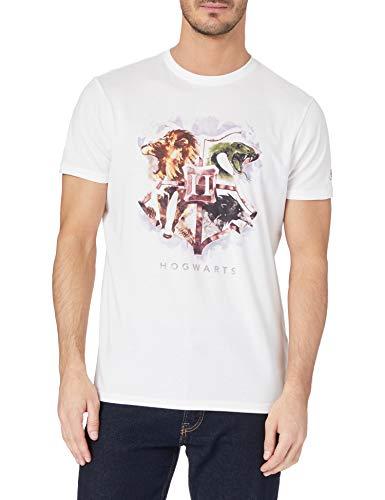 Springfield Camiseta Hogwarts, Marfil, M para Hombre