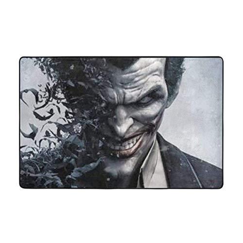 Alfombra antideslizante The Joker para dormitorio, camping, suave alfombra, sala de estar, niños y niñas, decoración del hogar, 156 x 95 cm