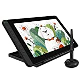 2021 HUION KAMVAS 12 Graphics Drawing Tablet with Full Lamination Screen Battery-Free Stylus Tilt Adjustable Stand 2 Gloves Android Support , Black