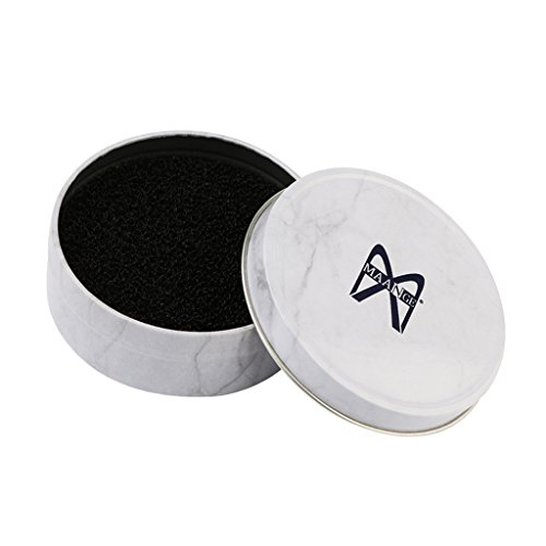 Sharplace Boîtes de Nettoyage en Eponge pour Nettoyage Pinceaux de Maquillage ou Brosse Brush Cosmétique - blanc, 8x8x3cm / 3.2x3.2x1.2 pouces