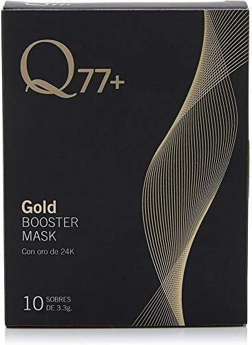 GOLD BOOSTER MASK | STRAFFENDE GESICHTSMASKE mit 24K Gold | Gesichtsmaske mit Kieselerde, Vitamin A und B | Anti-Falten-Gesichtsmaske | Anti-Aging-Behandlung für das Gesicht | 10 Sachets à 3,3 g.