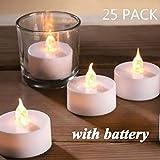 Best Flameless Tea Lights - Tea Lights,25 Pack Flameless LED Tea Lights Candles,Battery Review