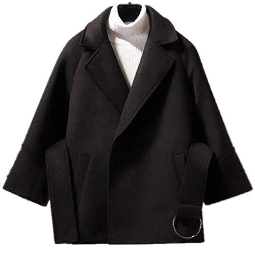 NOBRAND - Abrigo corto de lana para mujer, otoño e invierno, para estudiantes