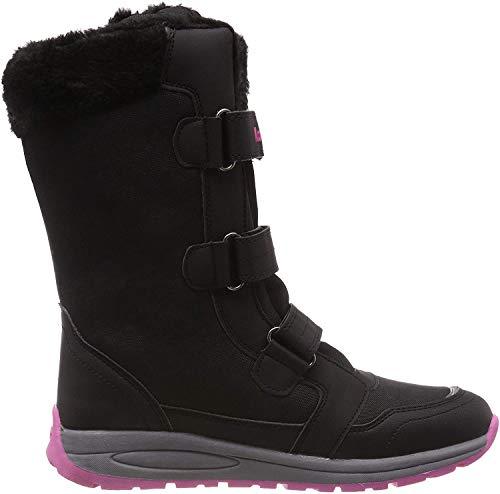 KangaROOS K-Star Boot RTX Unisex-Kinder Stiefel, Gelb (Jet Black/Daisy Pink 5025), 35 EU