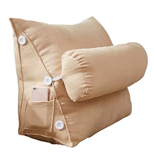 XGXQBS hoofdkussen voor rug, driehoek, velours, driehoekige houder, flexibel, verstelbaar, wigkussen, sofa, bed, leeskussen 45x22x50cm(18x9x20inch) Een