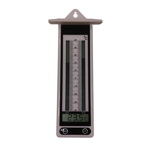 Elektrische kookthermometer. Minimum/maximum thermometer, wit