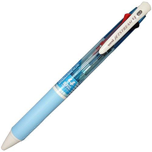 『三菱鉛筆 4色ボールペン ジェットストリーム 0.7 SXE4500071P.8 水色 パック』の1枚目の画像