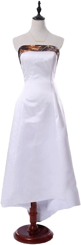 Angel Bride 2015 White Camo Wedding Dress Backless Camo Bridesmaid Dresses