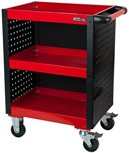 KS Tools 890.0006 Ecoline Werkstatt-Servicewagen mit Lochplattenverkleidung