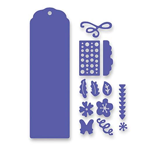 Pixiey Stanssjabloon, metaal, staal, hals, matrijzen, bloemen, vlinders, etiketten, lijsten, reliëf, sjabloon, voor scrapbooking, matrijzen, kaarten
