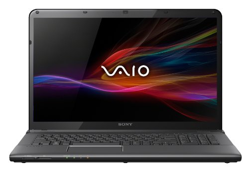 Sony VAIO SVE1713Y1EB 43,9 cm (17,3 Zoll) Notebook (Intel Core i7 3632QM, 2,2GHz, 8GB RAM, 1000GB HDD, AMD HD 7650M (2GB), Blu-ray Brenner, Win 8) schwarz