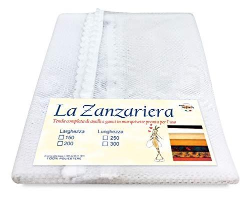 Tex family Tenda Rete ZANZARIERA da Esterno Giardino Balcone Unito Bianco - Cm. 150x250