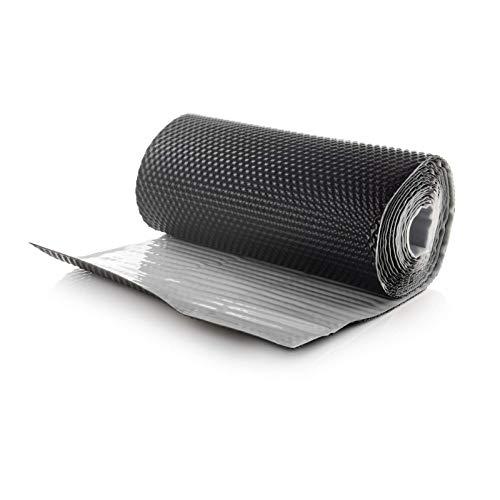 DQ-PP WANDANSCHLUSSBAND | Länge 5m | Breite 300mm | Graphit RAL 7016 | hochwertiges Aluminium und Butyl | Selbstklebend | Dach Kaminanschlussband 3D Struktur Dachabdeckung Aluminiumband