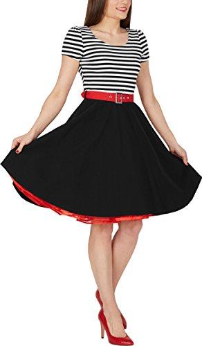 BlackButterfly 'Maria' Vintage Gestreift Pin-up-Kleid - 5