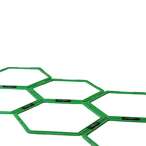 TOOLZ Agility Grid - Trainingsnetz mit sechseckigen Koordinationselementen mit Variabler Steckverbindung - Koordinationsgitter/Trainingsgitter für Koordinationstraining und Agilität