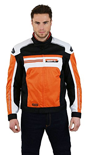 NERVE 21140348_02 Giacca Moto-Breve X66, Arancione, S