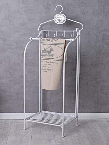 Badregal Shabby Chic Handtuchständer Handtuchablage Weiss Metallregal Handtuchhalter mla035 Palazzo Exklusiv