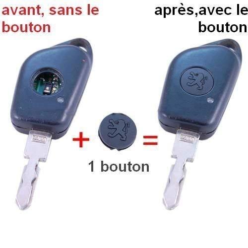 Botón de plástico para llave para Peugeot 106, 206, 306, 406, etc
