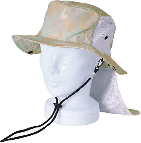 PONTAPES(ポンタペス) サーフハット 日よけ付き 全10色柄 PAH-444 カモホワイト ML 帽子 ぼうし メンズ レディース キッズ 釣り アウトドア カモ柄 迷彩柄