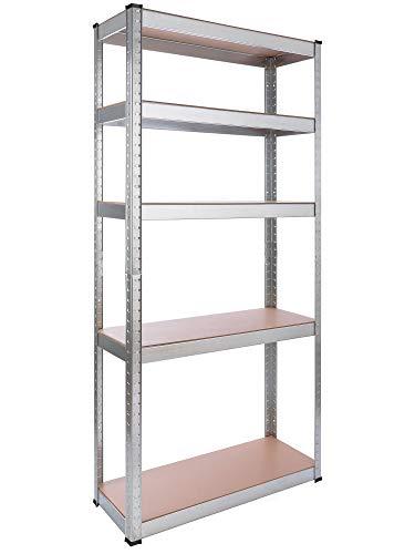 Arebos Estantería cargas pesadas | de metal | 80 x 30 x 170 cm | capacidad de carga de 350 kg
