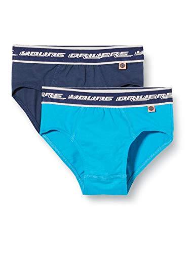 Sanetta Jungen Unterhose Doppelpack Boxershorts, Blau (blau 5193), (Herstellergröße:128)