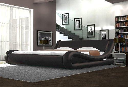 Unbekannt Designerbett, Braun, Schwarz, Weiß, Schwarz/Weiß, braun, Kingsize