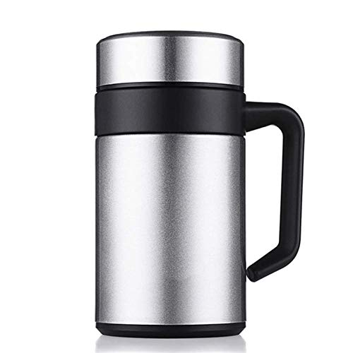 Portable Coffee Travel Mug Thermos Cup - Stainless Steel Business Office Vacuum Insulation Cup Filter Tea Coffee Cup with Handle Durable Leak Proof Water,8.5x17cm the Best Gift for Winter
