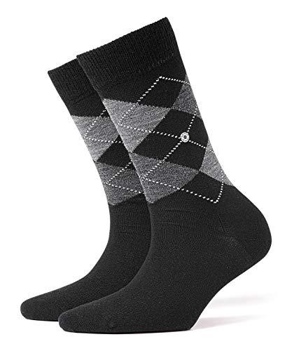 BURLINGTON Damen Socken Marylebone - Schurwollmischung, 1 Paar, Schwarz (Black 3000), Größe: 36-41