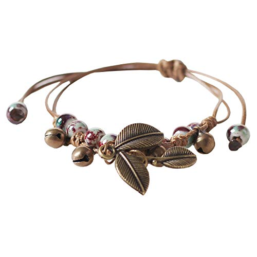 MSTOT sieraden vintage blad armband oven variabele losse parels sieraden vrouwen instelbare grootte