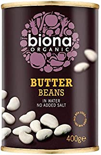 Biona Organic Butter Beans in Water 400g