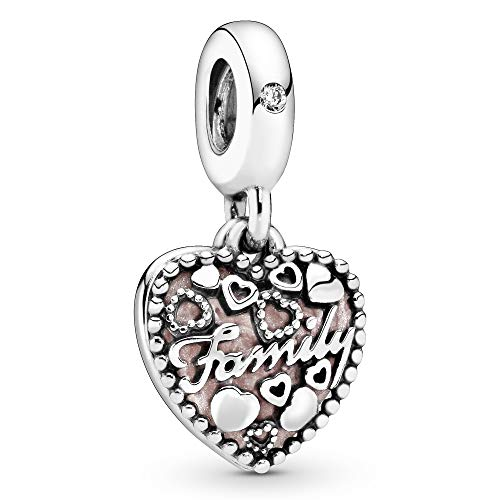 Pandora Jewelry Love Makes A Family Dangle Cubic Zirconia Charm in Sterling Silver