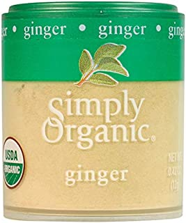Simply Organic Ground Ginger Root, Certified Organic | 0.42 oz | Pack of 6 | Zingiber officinale Roscoe
