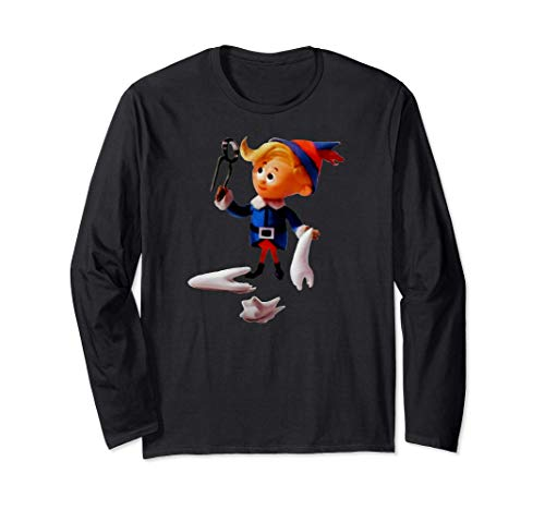 Retro Christmas Dentist Hermey the Elf Long Sleeve T-Shirt