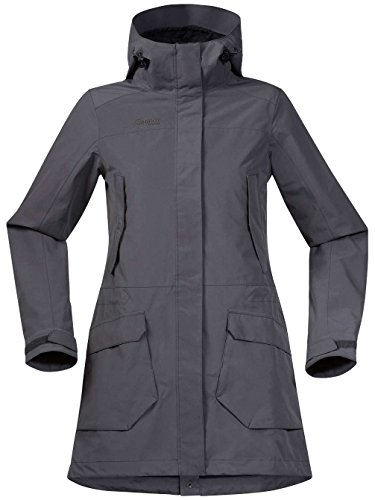 Bergans Damen Lone Wintermantel Softshell, Graphite, L