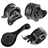 Engine Motor Mount Kit Set of 4 Compatible with 90-93 Accord with MT Manual Transmission NEW